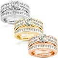 Annello 14k Gold 2 1/3ct TDW Diamond 3-piece Bridal Ring Set (H-I, I1-I2)