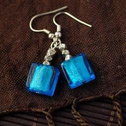 Aqua Lampwork Glass Earrings (China)