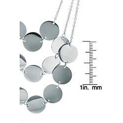 Eternally Haute Stainless Steel 3-row Disc Necklace