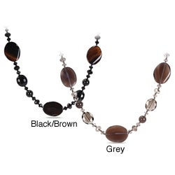 Miadora 700ct TGW Agate and Crystal Bead Endless Necklace