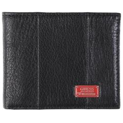 Guess Men's Genuine Leather Bifold Zipper Wallet