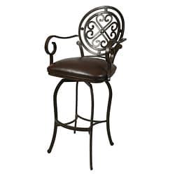 Mossoro Swivel Leather Counter Stool 17617656