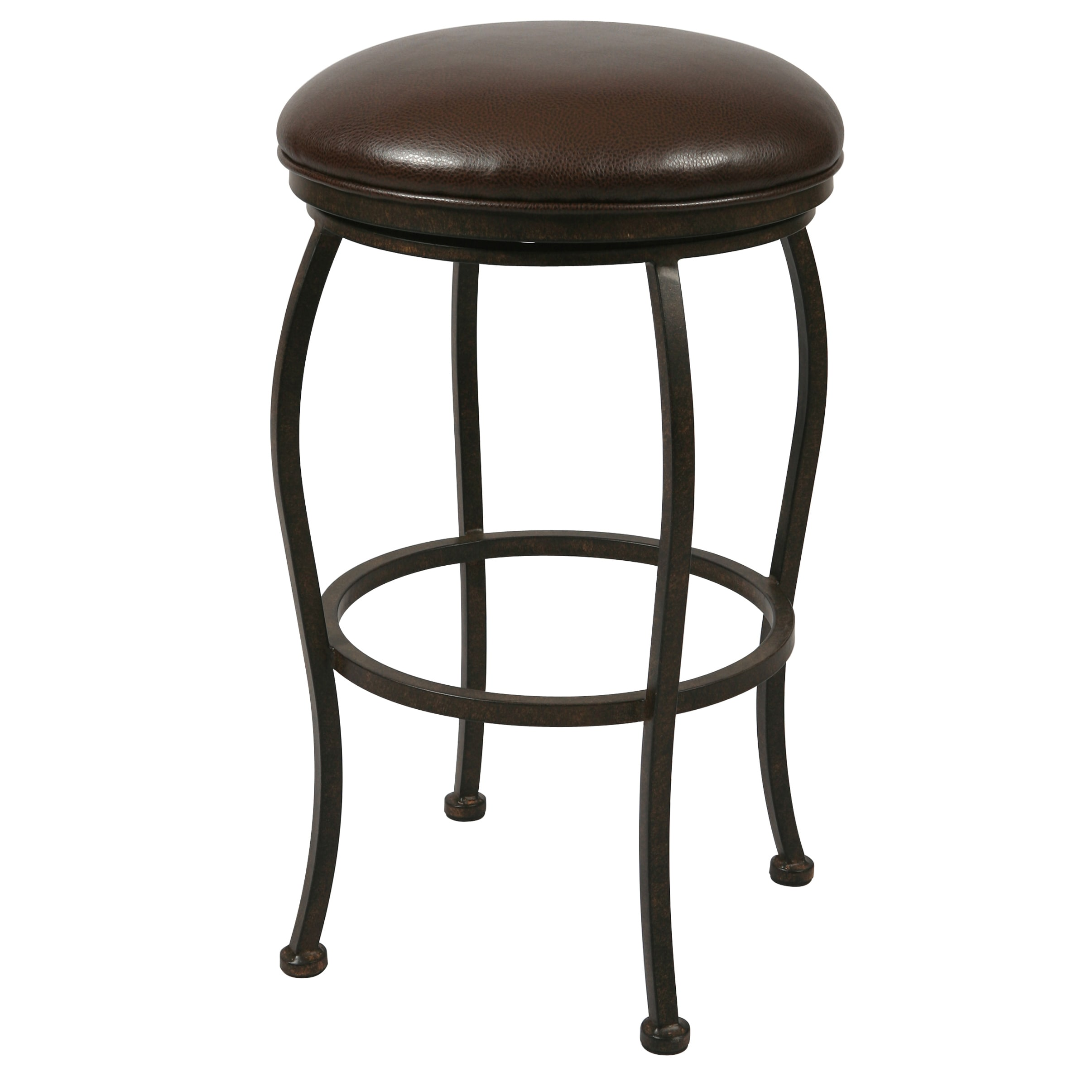 Island Falls Swivel Backless Counter Stool
