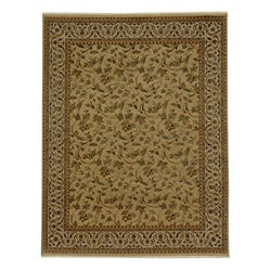 Hand-knotted Wool and Pure Silk Area Rug (2' x 3')