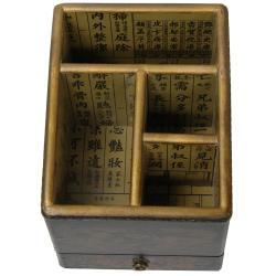 Oriental Home Black Lacquer Desk Organizer (China)