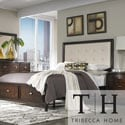 Tribecca Home Cumbria Cream Linen 5-piece Queen-size Storage Platform Bedroom Set