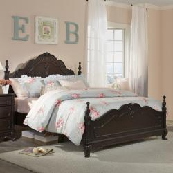 Fairytale Victorian Princess Dark Brown Queen-size Bed