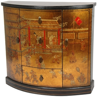 Gold Leaf Village Market Cabinet (China)