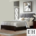 ETHAN HOME Adlington Dark Brown Tufted Modern King-size Bed