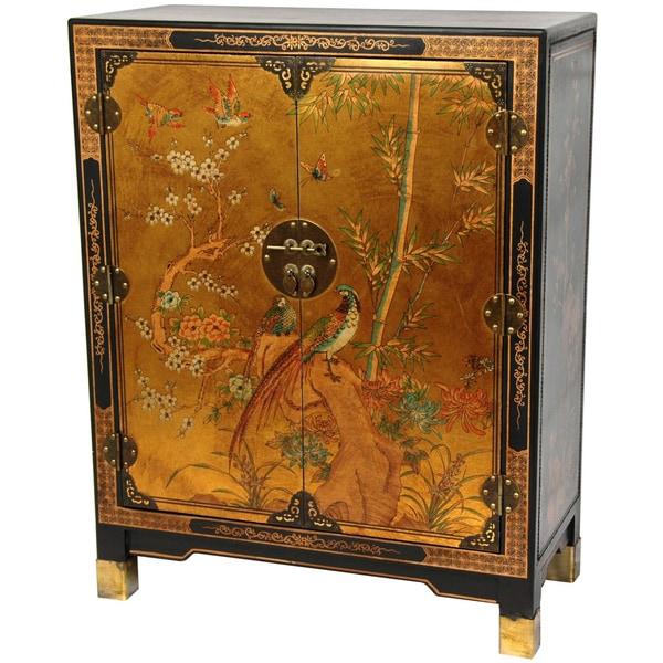 Oriental Home Gold Leaf Nestling Birds Cabinet (China)
