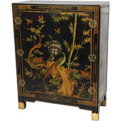 Black Lacquer Nestling Birds Cabinet (China)