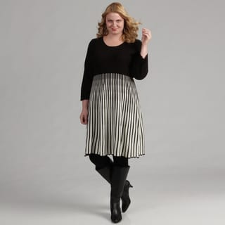 Calvin Klein Women's Plus Size 2-pc Striped Dress