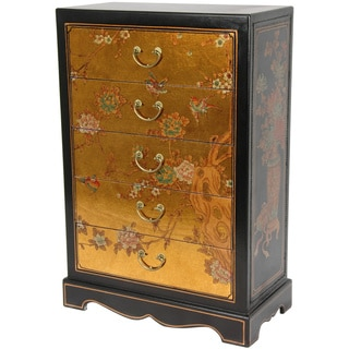 Gold Leaf Five Drawer Chest (China)