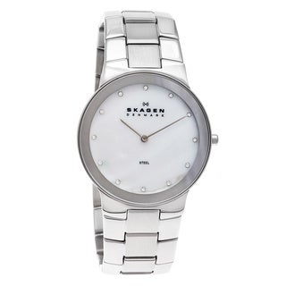 Skagen Men's Stainless Steel White Dial Watch