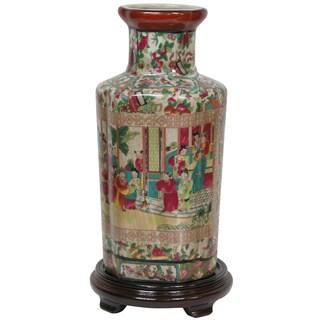 Porcelain 12-inch Rose Medallion Vase (China)