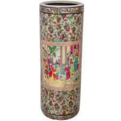 Oriental Home Porcelain 24-inch Rose Medallion Umbrella Stand (China)