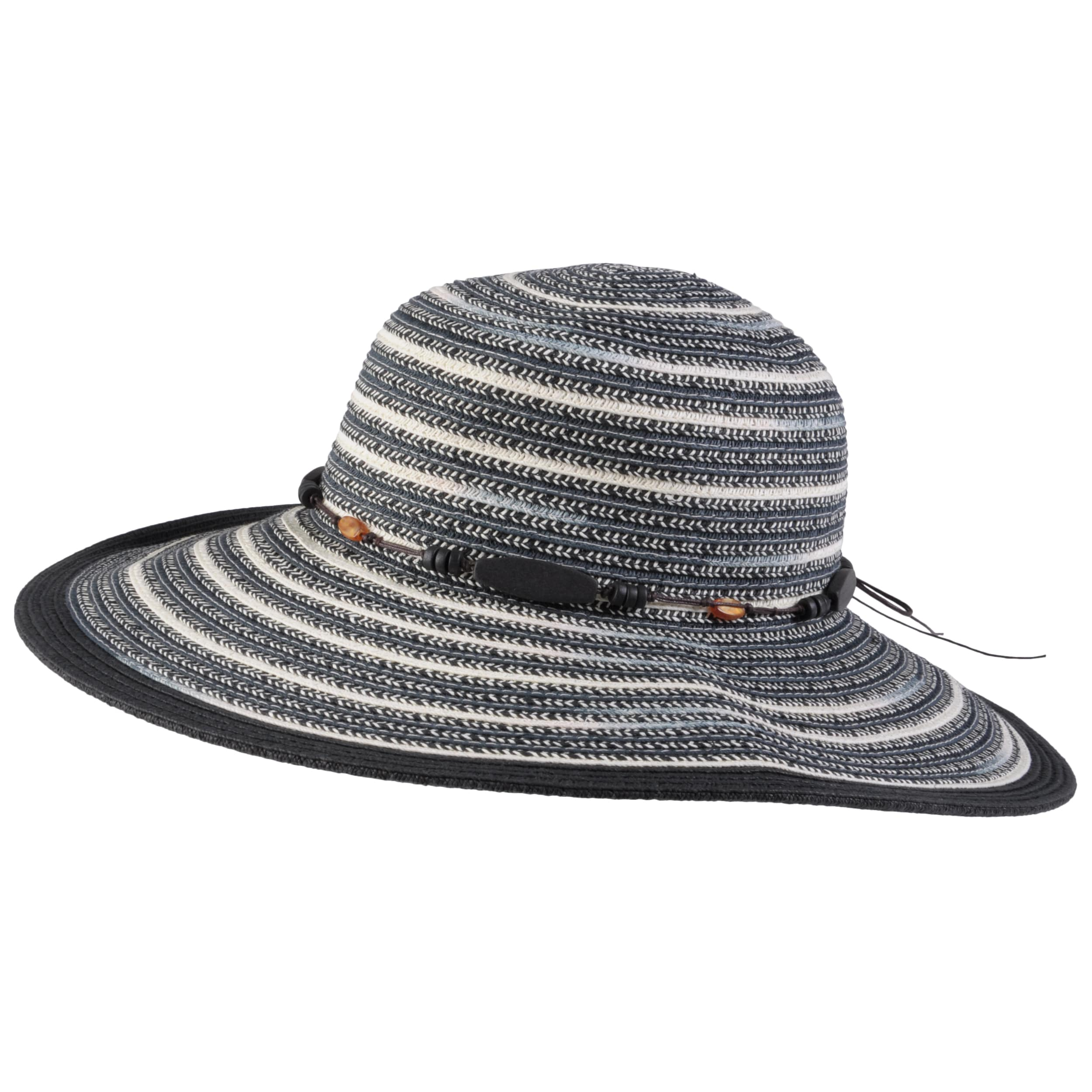 Hailey Jeans Co. Women's Bead Accent Paper Braid Sunhat