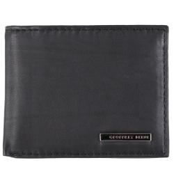 Geoffrey Beene Men's Textured Genuine Leather Bifold Passcase Wallet