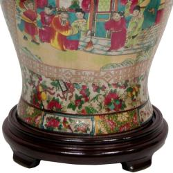 Oriental Home Porcelain 18-inch Rose Medallion Temple Jar (China)