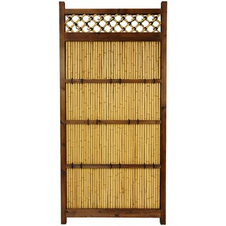 Japanese Bamboo 6x3-foot Zen Garden Fence (China)