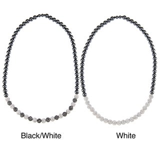 La Preciosa Hematite and Crystal Bead 26-inch Necklace