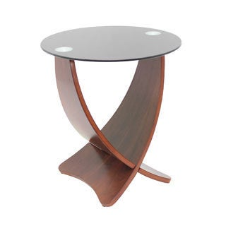 Criss Cross Bent Wood Accent End Table