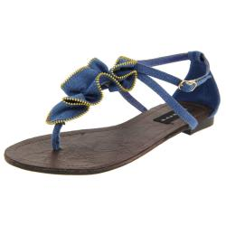 Celeste Women's 'Dora-06' Blue Ruffle Gladiators