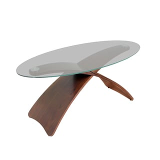 Criss Cross Bent Wood Accent Coffee Table