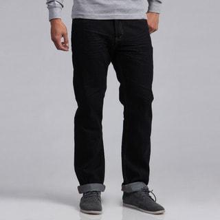 Ditch Plains Men's Straight Leg Distressed Dark Wash Jeans