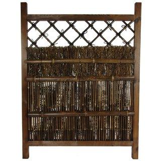 Handmade Tranquil Mountain Bamboo Fence Door