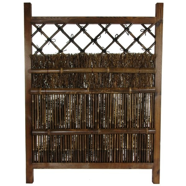 Tranquil Mountain Bamboo Fence Door (China)