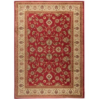 Ariana Palace Red Area Rug (6' 7 x 9' 6)