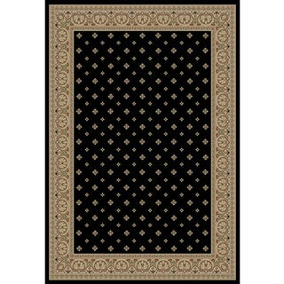 Dallas Formal Black Area Rug (3' 11 x 5' 3)