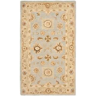 Safavieh Handmade Anatolia Farahan Light Blue/ Sage Wool Rug (3' x 5')