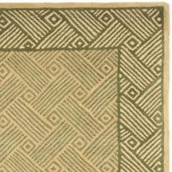 Safavieh Handmade New Zealand Passage Light Green Rug (3'6 x 5'6')