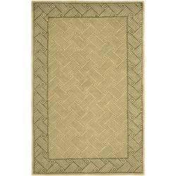 Handmade New Zealand Passage Light Green Rug (3'6 x 5'6')
