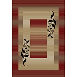 Madrid Red Area Rug (6' 7 x 9' 6)