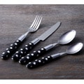 LeBrun ''Tortolla'' Black 16-piece Cutlery Set
