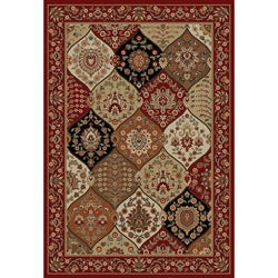 Victorian Panel Red Area Rug (6' 7 x 9' 6)