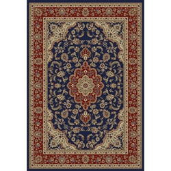Medallion Traditional Navy Area Rug (5' 3 x 7' 3)
