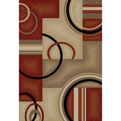 Generations Contemporary Red Area Rug (6' 7 x 9' 6)