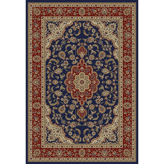 Medallion Traditional Navy Area Rug (3' 11 x 5' 3)