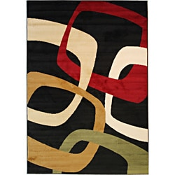 Squares Contemporary Multi Area Rug (7'10 x 9'10)