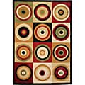 Squares and Circles Multi Area Rug (6'7 x 9'3)