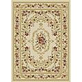 Royal Medallion Ivory/ Beige Floral Rug (3'3 x 5'3)