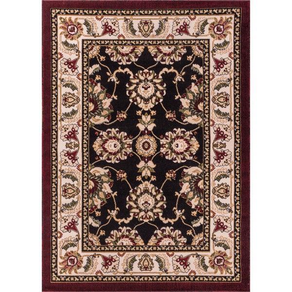 Antep Black/ Beige Oriental Rug (7'10 x 9'10)