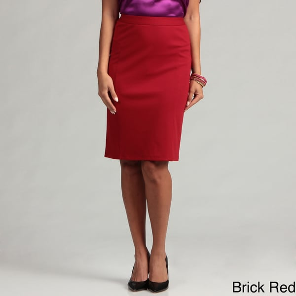 Cupio Women's Banded Ponte Skirt