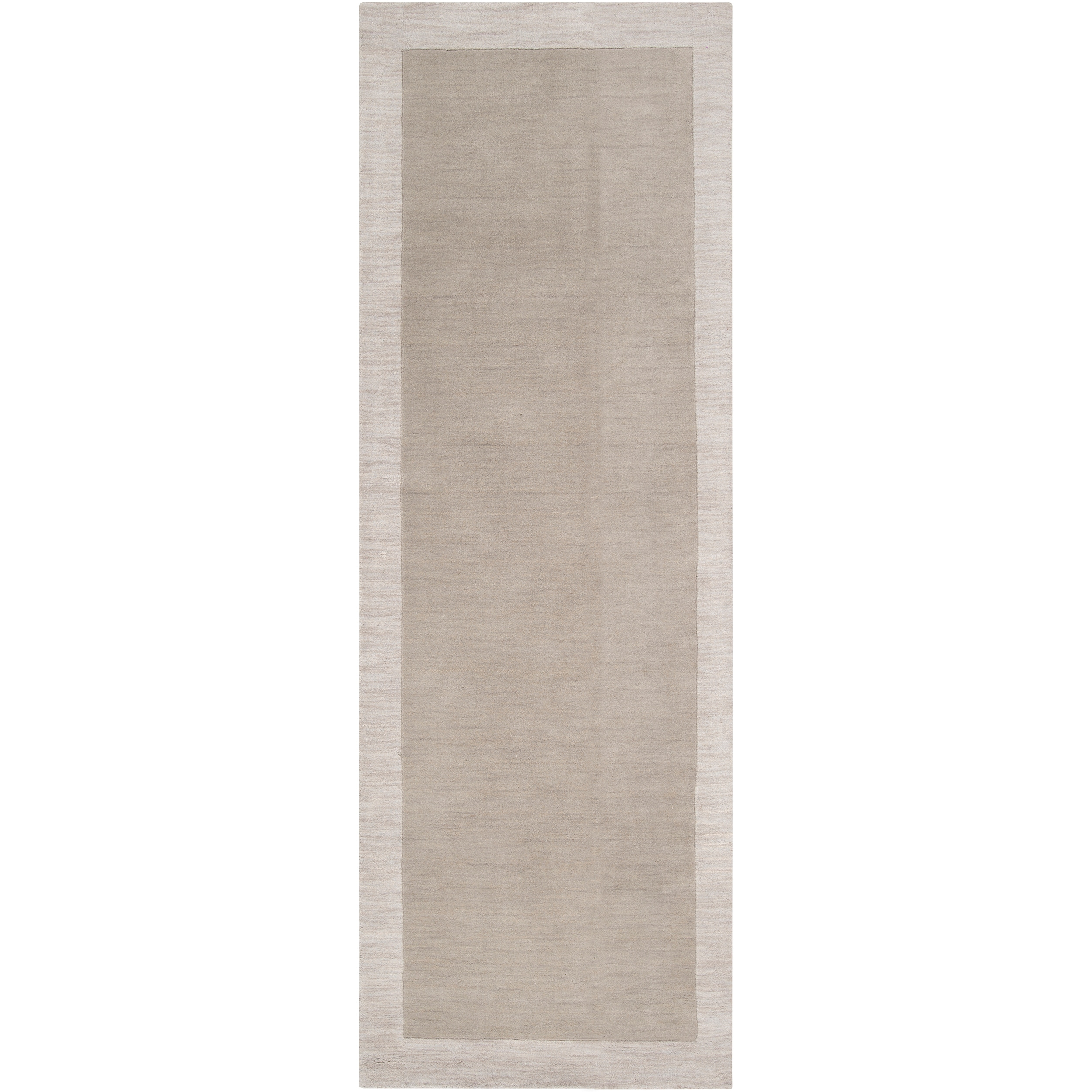 Hand-tufted angelo:HOME Gray Madison Square Wool Rug (2'6 x 8')