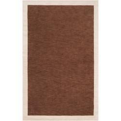 "Contemporary angelo:HOME Loomed Brown Madison Square Wool Rug (3'3"" x 5'3"")"