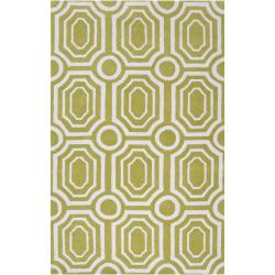 angelo:HOME Hand-tufted Green Hudson Park Polyester Rug (8' x 10')